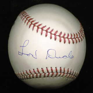 LOU DIALS - AUTOGRAPHED SIGNED BASEBALL