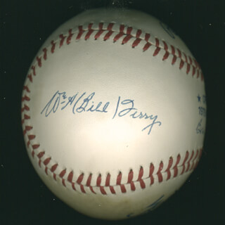 WILLIAM H. MEMPHIS BILL TERRY - AUTOGRAPHED SIGNED BASEBALL