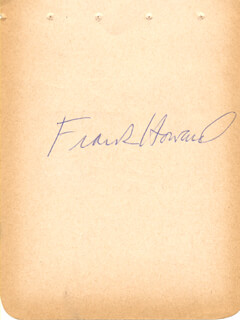 FRANK HONDO HOWARD - AUTOGRAPH CO-SIGNED BY: RON FAIRLY
