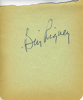 BILL SPECS-THE CRICKET RIGNEY - AUTOGRAPH CO-SIGNED BY: DON DEMETER