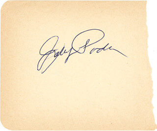 JOHNNY PODRES - AUTOGRAPH CO-SIGNED BY: CLEM LABINE