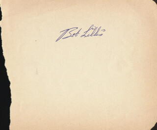 BOB FLEA LILLIS - AUTOGRAPH CO-SIGNED BY: BABE BIRRER