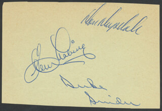 DUKE SNIDER - AUTOGRAPH CO-SIGNED BY: DON DRYSDALE, CLEM LABINE