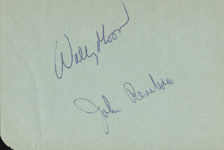 WALLY MOON - AUTOGRAPH CO-SIGNED BY: JOHNNY ROSEBORO