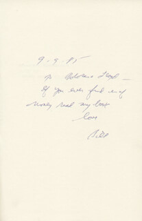 WILLIAM E. DONOGHUE - INSCRIBED BOOK SIGNED 09/09/1985
