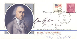 VICE PRESIDENT DAN (JAMES DANFORTH) QUAYLE - COMMEMORATIVE ENVELOPE SIGNED CO-SIGNED BY: VICE PRESIDENT SPIRO T. AGNEW, HENRY A. KISSINGER, VICE PRESIDENT WALTER F. MONDALE