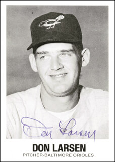 DON LARSEN - TRADING/SPORTS CARD SIGNED