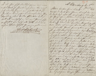 ANTON RUBINSTEIN - AUTOGRAPH LETTER SIGNED 01/02/1861