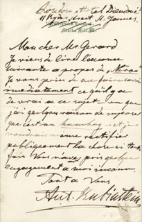 ANTON RUBINSTEIN - AUTOGRAPH LETTER SIGNED 1/11