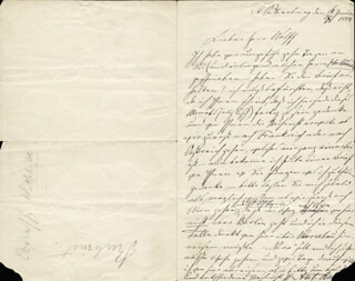 ANTON RUBINSTEIN - AUTOGRAPH LETTER SIGNED 01/16/1884