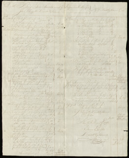 Autographs: LOVETT V. ADAMS - AUTOGRAPH DOCUMENT SIGNED 08/09/1796