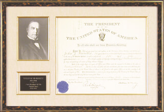 Autographs: PRESIDENT WILLIAM McKINLEY - MILITARY APPOINTMENT SIGNED 07/07/1891 CO-SIGNED BY: LT. GENERAL HENRY C. CORBIN, RUSSELL A. ALGER
