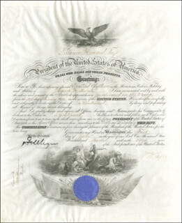 Autographs: PRESIDENT WILLIAM H. TAFT - NAVAL APPOINTMENT SIGNED 06/01/1912 CO-SIGNED BY: GEORGE VON L. MEYER