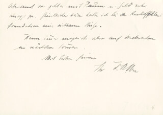 Autographs: WALTER RUDOLF HESS - AUTOGRAPH LETTER SIGNED 1949