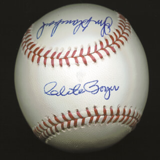 CLETE BOYER - AUTOGRAPHED SIGNED BASEBALL CO-SIGNED BY: BILL MOOSE SKOWRON, JOHNNY BLANCHARD, CHRIS CHAMBLISS