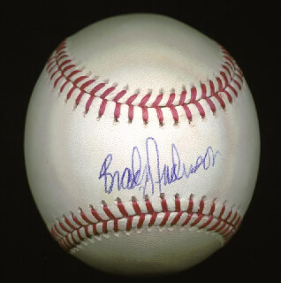 BRADY ANDERSON - AUTOGRAPHED SIGNED BASEBALL