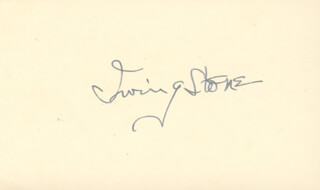 IRVING STONE - AUTOGRAPH