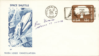 CAPTAIN RONALD E. EVANS - COMMEMORATIVE ENVELOPE SIGNED 10/02/1978