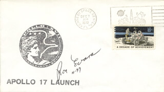 CAPTAIN RONALD E. EVANS - COMMEMORATIVE ENVELOPE SIGNED 11/1977