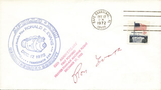 CAPTAIN RONALD E. EVANS - COMMEMORATIVE ENVELOPE SIGNED