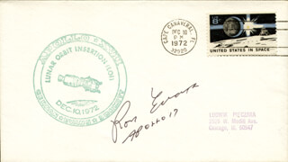 CAPTAIN RONALD E. EVANS - COMMEMORATIVE COVER SIGNED