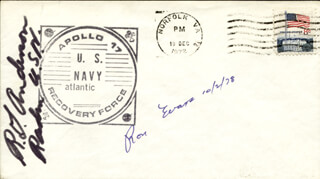 CAPTAIN RONALD E. EVANS - COMMEMORATIVE ENVELOPE SIGNED 10/02/1978 CO-SIGNED BY: REAR ADMIRAL R. G. ANDERSON
