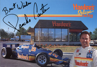 Autographs: PANCHO CARTER - PRINTED PHOTOGRAPH SIGNED IN INK