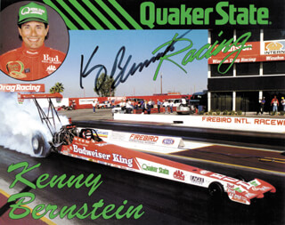 KENNY BERNSTEIN - AUTOGRAPHED SIGNED PHOTOGRAPH