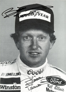BILL MILLION DOLLAR BILL ELLIOTT - AUTOGRAPHED SIGNED PHOTOGRAPH
