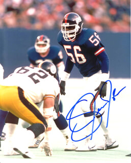 LAWRENCE TAYLOR - AUTOGRAPHED SIGNED PHOTOGRAPH