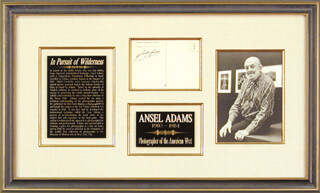 Autographs: ANSEL ADAMS - PICTURE POST CARD SIGNED