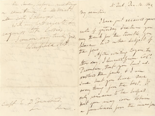 LT. GENERAL WINFIELD SCOTT - AUTOGRAPH LETTER SIGNED 12/14/1849