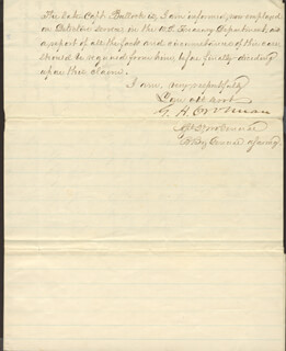 MAJOR GENERAL JAMES J. DANA - MANUSCRIPT LETTER SIGNED 05/05/1867 CO-SIGNED BY: BRIGADIER GENERAL G. H. CROSMAN
