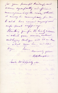 MAJOR GENERAL ANDREW A. HUMPHREYS - AUTOGRAPH LETTER SIGNED 02/03/1870