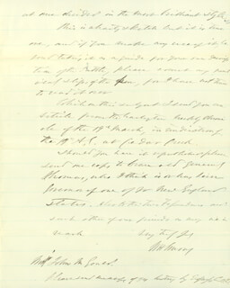 Autographs: MAJOR GENERAL WILLIAM H. EMORY - AUTOGRAPH LETTER SIGNED 04/05/1870