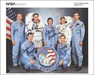 COLONEL BRYAN O'CONNOR - AUTOGRAPHED SIGNED PHOTOGRAPH CO-SIGNED BY: COLONEL JERRY L. ROSS, COLONEL BREWSTER H. SHAW, COLONEL SHERWOOD C. WOODY SPRING, MARY L. CLEAVE