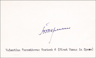 Major General Valentina Tereshkova Autographs 131708