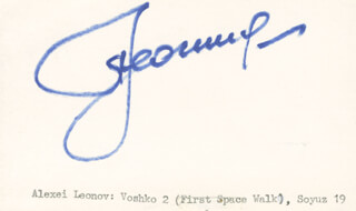 Autographs: MAJOR GENERAL ALEXEI LEONOV - SIGNATURE(S)