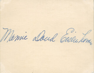 FIRST LADY MAMIE DOUD EISENHOWER - AUTOGRAPH