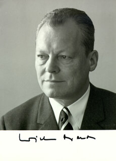 Chancellor Willy Brandt (germany) Autographs 131764