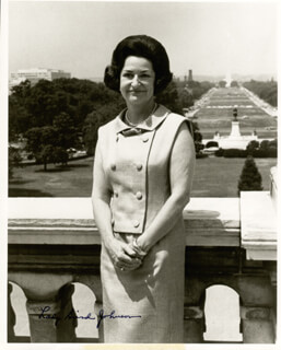 FIRST LADY LADY BIRD JOHNSON - AUTOGRAPHED SIGNED PHOTOGRAPH  - HFSID 13178