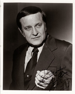Autographs: JACK ANDERSON - INSCRIBED PHOTOGRAPH SIGNED