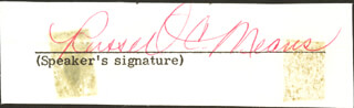 Autographs: RUSSELL CHARLES MEANS - CLIPPED SIGNATURE