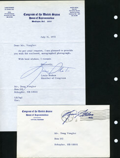 LOUIS STOKES - TYPED LETTER SIGNED 07/31/1972