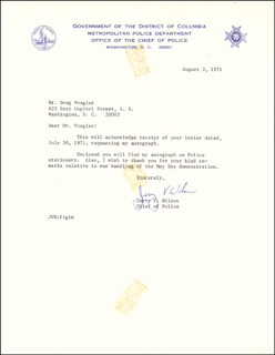 Autographs: JERRY V. WILSON - TYPED LETTER SIGNED 08/03/1971
