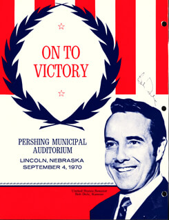 ROBERT J. BOB DOLE - PROGRAM SIGNED CIRCA 1970