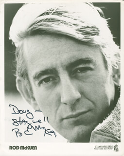 ROD MCKUEN - INSCRIBED PRINTED PHOTOGRAPH SIGNED IN INK