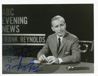 FRANK REYNOLDS - AUTOGRAPHED INSCRIBED PHOTOGRAPH