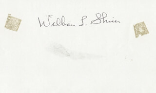 WILLIAM L. SHIRER - AUTOGRAPH