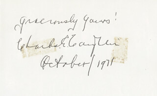 Autographs: CHARLES COUGHLIN - AUTOGRAPH SENTIMENT SIGNED 10/1971